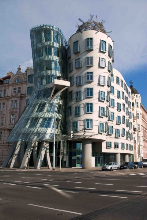 Famous Dancing House in Prague