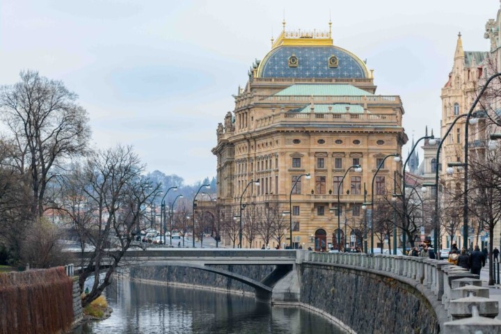 Czech National Theatre in the winter