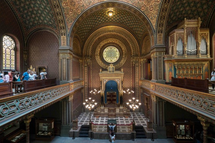 The Spanish Synagogue in Prague is described as the most beautiful synagogue in Europe